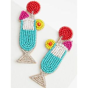 🆕Multicoloured Beaded Cocktail Statement Earring